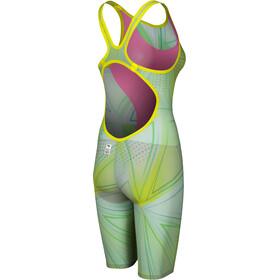 arena R-EVO ONE Traje Pierna Corta Espalda Abierta LTD Edition 2019 Mujer, green glass